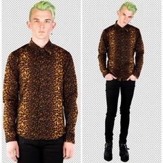 LIP SERVICE 24hrs leopard shirt