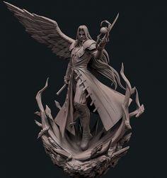 Sephiroth de Final Fantasy VII recibe un increíble modelado - Alfa Beta Juega Final Fantasy Vii Remake, Final Fantasy Artwork, Fantasy Series, Fantasy World, Tifa Lockhart, Zbrush, Digital Sculpting, Z Photo, 3d Character
