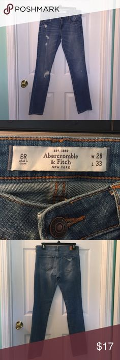 Abercrombie and Fitch jeans Abercrombie and Fitch jeans in great condition! Barely worn Abercrombie & Fitch Jeans Skinny