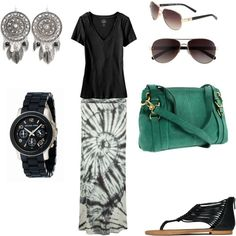 comfy travel outfit....skip the shades, earrings and purse and add a big pink wrap and black bag!