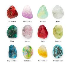 Mariel Nader's one-of-a-kind soaps were inspired by the shades and shapes of the 12 birthstones.