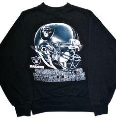 c66d77bda1fe4c Vintage 90s Oakland Raiders Sweatshirt by VintageMensGoods on Etsy