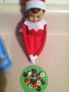 Made elf sized doughnuts