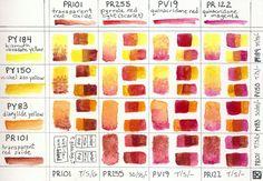 Watercolor Warm Mixtures by shadoj