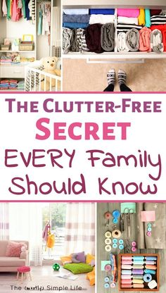 Love new organization ideas for the home! Small spaces with clutter is the worst. The organizing tips and ideas in here are great life hacks! Ideas for a bedroom, kitchen, office, kids stuff and more. #declutter #organize #organizing #clutterfree #smallsp