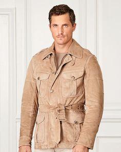 558a28d04e4bc0 Lanton Suede Jacket - Purple Label Leather  amp  Suede - RalphLauren.com  Suede Jacket