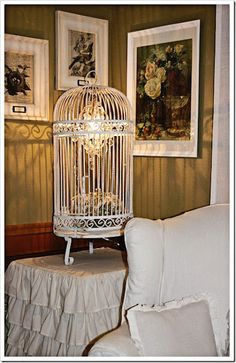 birdcage light, obsessed with birdcages!