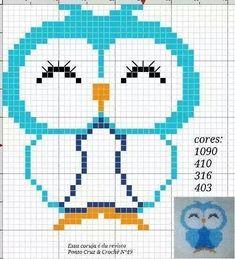 Baykuşlu Cross Stitch Owl, Just Cross Stitch, Beaded Cross Stitch, Cross Stitch Animals, Cross Stitch Charts, Cross Stitching, Cross Stitch Embroidery, Funny Cross Stitch Patterns, Cross Stitch Designs