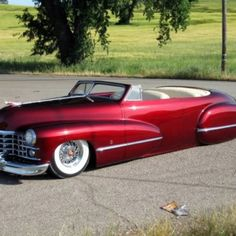 Beautiful old Cadillac lead sled.