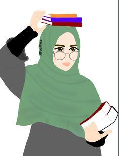 Muslim Girls, Muslim Women, Girl Cartoon, Cartoon Art, Hijab Drawing, Islamic Cartoon, Anime Muslim, Hijab Cartoon, Casual Hijab Outfit
