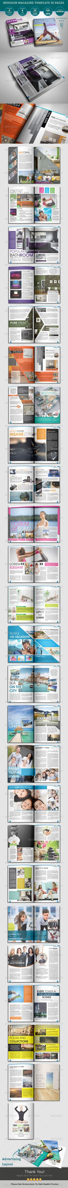 Indesign Magazine Template InDesign INDD. Download here : http://graphicriver.net/item/indesign-magazine-templates-50-pages-/4650812?s_rank=1791&ref=yinkira