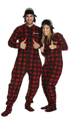 23 Best Christmas Footed Pajamas for Adults images  c60b86439