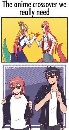 Isekai Quartet is great, but & Manga Anime Meme, Otaku Meme, Manga Anime, Anime Crossover, Anime Comics, Kawaii Anime, Kobayashi San Chi No Maid Dragon, Miss Kobayashi's Dragon Maid, Monster Musume