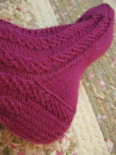 9 to 5 socks. A joy to knit...I must make some more!