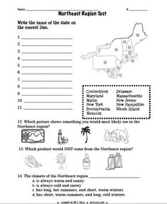 This is a collection of all five complete units for teaching about the five regions of the United States. The listing contains units for each regio...