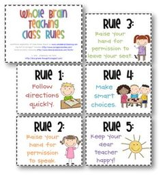 Whole Brain Teaching Rules :) kindergartenklub-com