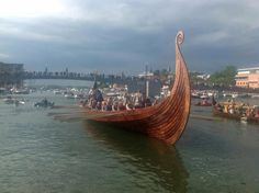 Authentic replica of a vikingship in Tønsberg (Oldest city in Norway). This was handbuilt over the last two years with only tools available a thousand years ago.