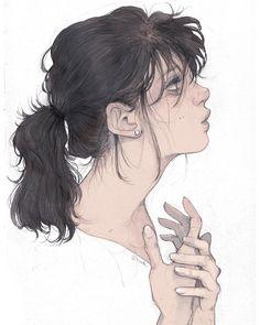 #sketch #pencil #photoshop #ponytail