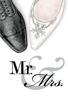 mr & mrs wedding shoes – Ann Scott, Inc. Wedding Drawing, Wedding Dress Sketches, Wedding Cards, Wedding Gifts, Wedding Invitations, Wedding Shoes, Dream Wedding, Wedding Day, Happy Anniversary