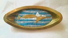 Vintage Salvador Teran Mosaico Pez Espada Bandeja de mediados de siglo Mexicano
