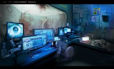 SCP 173 Containment Unit, Oriana Menendez on ArtStation at https://artstation.com/artwork/scp-173-containment-unit