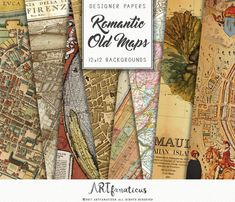 Vintage maps digital paper maps vintage with world antique maps old world maps romantic city maps of the world globe ancient maps for gumiabroncs Image collections