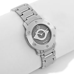 "Rarities: Fine Jewelry with Carol Brodie .36ct Diamond Stainless Steel ""Evil Eye"" Watch at HSN.com."