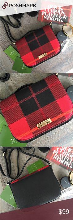 Spotted while shopping on Poshmark: NWT ♠️ Kate Spade Plaid Crossbody Bag! #poshmark #fashion #shopping #style #kate spade #Handbags