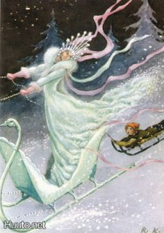 Illustration of Rudolf Koivu: a fairytale of the snow queen. Published by Amnesty international Andersen's Fairy Tales, Candy Art, Eye Candy, Snow Queen, Scandinavian Christmas, Artist At Work, Fantasy Art, Illustration Art, Amnesty International
