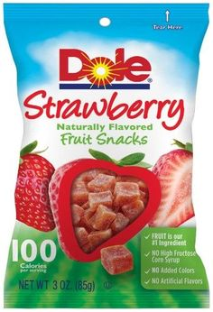 Dole Fruit Snacks Strawberry, 3 Oz (Pack of 8)