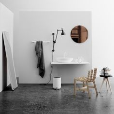 Manufacturer: Menu Designer: Norm Architects Designed to lean against the wall - or to go, stand or hang wherever you find it best. Contemporary Bathroom Accessories, Floor Mirror, Architect Design, Clawfoot Bathtub, Minimalism, Flooring, Luxury, Furniture, Menu
