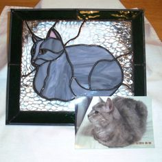 Custom Cat Stained Glass Panel by smashingglass on Etsy, $80.00