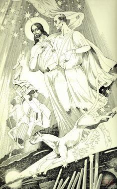 Иешуа и Пилат на лунной дороге. Иллюстрации к «Мастеру и Маргарите» Павла Оринянского.