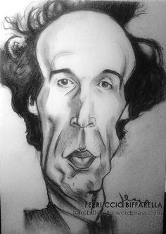 Roberto #Benigni Italian #actor #caricature #comedian by Ferruccio Biffarella