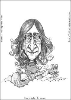 Caricature/Cartoon – John Lennon of The Beatles!