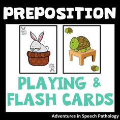 Preposition Flash Playing Cards