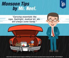 Necessities for a safe monsoon drive. #YehHaiNeel