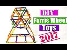 DIY Toy Ferris Wheel using Popsicle sticks | Easy Crafts project for Kids 2017