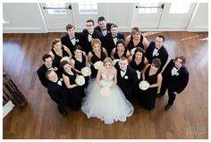 Large Wedding Party photo at Milestone Krum Wedding by brittanybarclay.com
