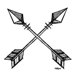 Crossed Arrows// check out my store on Redbubble!