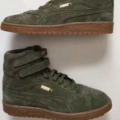 best service 9e86d 51881 Puma Ski II High Olive Gold High Top Sneakers 6.5
