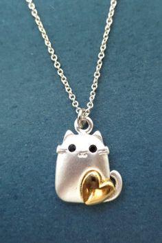 Lovely Loving Cat Necklace