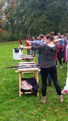Beim ProKilo #Mitarbeitertag flogen die Pfeile - #Bogenschießen im Dortmunder Park!