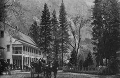 California History - Mariposa County - Yosemite Village - Sentinel Hotel.  Pinned by www.CaliforniasHarvest.com