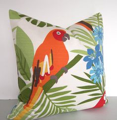 Both Sides  Decorative Designer Tropical Pillow Cover by Loubella1, $45.00