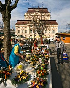 Bauernmarkt Kaiser-Josef-Platz in Graz - Austria