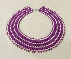 Free pattern for beaded necklace Piona U need: seed beads 11/0 pearl beads 3-4 mm