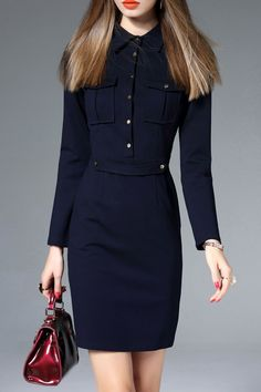 Mini Long Sleeve Sheath Dress