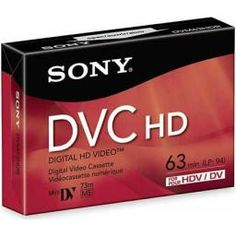 Sony - Hi-Def miniDV Videocassette - Single Sony Electronics, Mini, Crisp Image, Photo Accessories, Independent Films, Camcorder, Hd Video, Filmmaking, Digital
