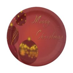 Red Merry Christmas 7 Inch Paper Plate